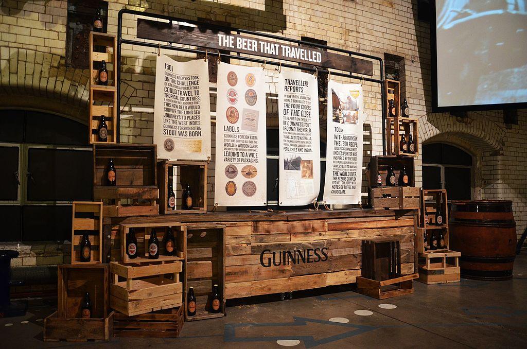 Dans le musée de Guinness Storehouse à Dublin - Photo de Steven Lek