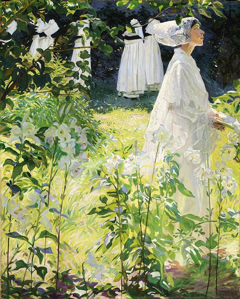 "Tableau de Leech ""Convent Garden"" (1913) au musée de la National Gallery of Ireland à Dublin"