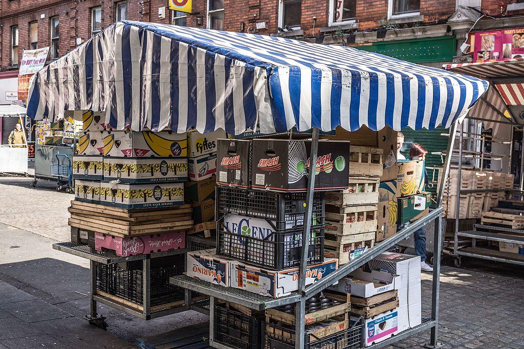 Marché de Moore Street Market à Dublin - Photo de William Murphy