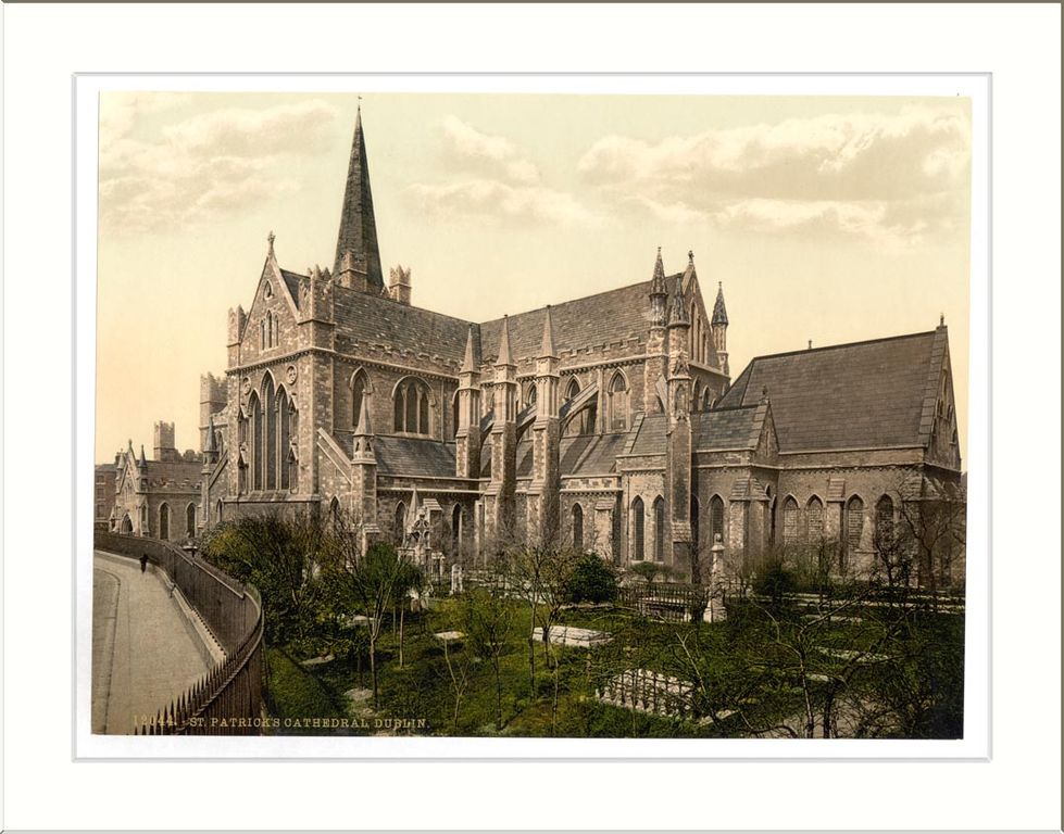 Photochrome de la cathédrale St. Patricks à Dublin.