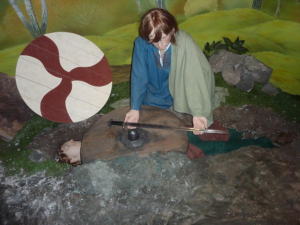 Scène de funérailles viking au musée Dublinia à Dublin - Photo de Zymurgy