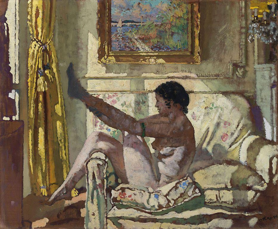 "Oeuvre d'art de William Orpen ""Sunlight"" (1925) à la National Gallery of Ireland à Dublin"