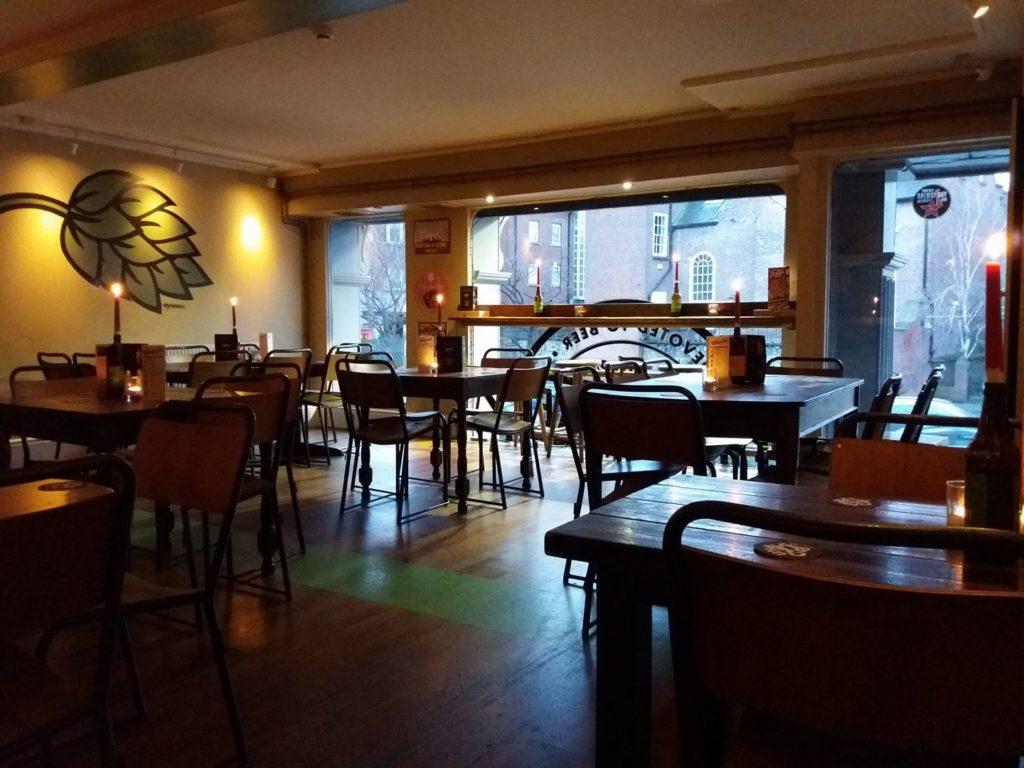 Bar à bières The Beer Market à Dublin.