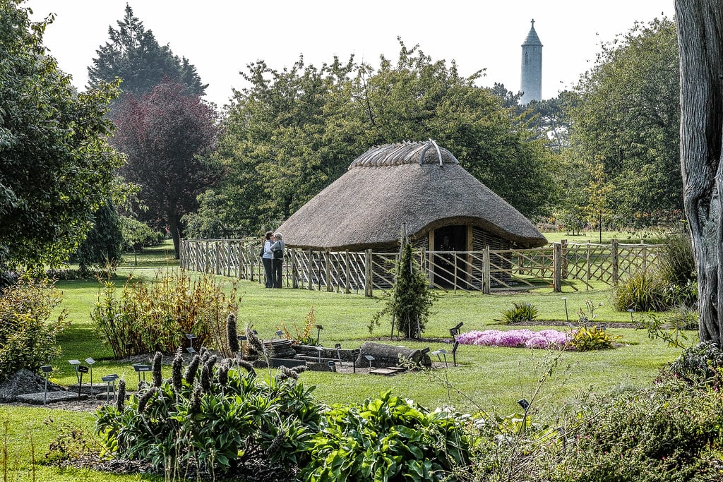 Maison viking dans le jardin botanique de Dublin - Photo de William Murphy