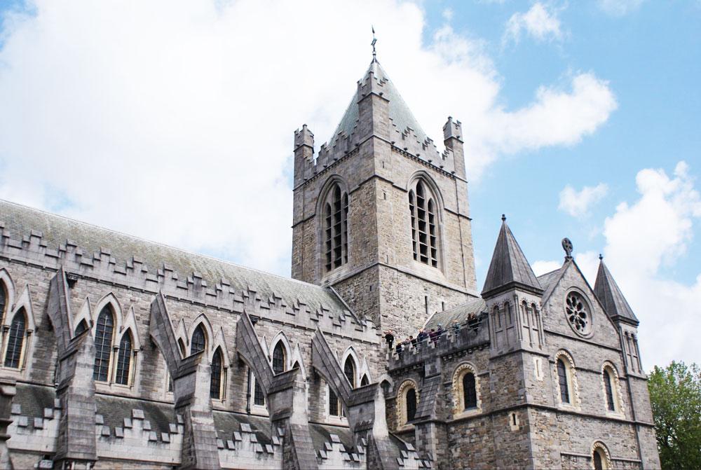 Vue sur la Cathédrale ChristChurch à Dublin