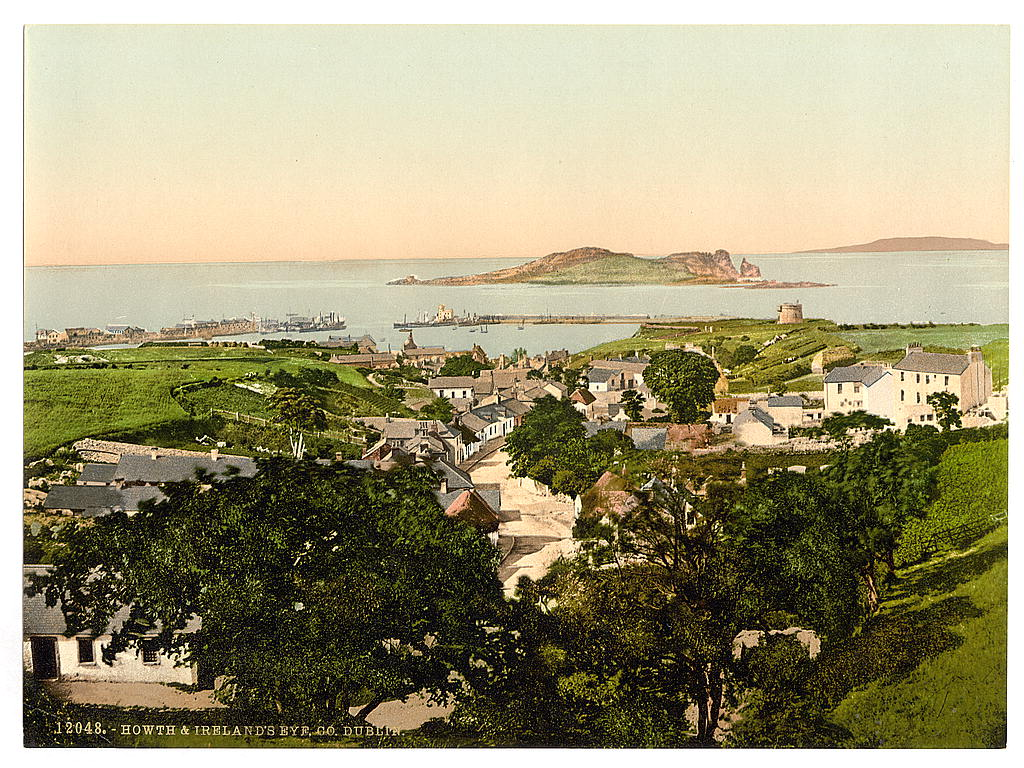 Photochrome de Howth près de Dublin en 1900.