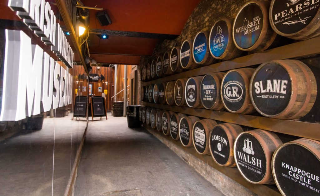 Dans l'Irish whiskey museum de Dublin.
