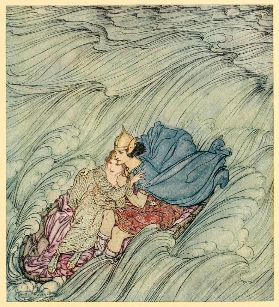 Illustration d'une légende irlandaise par Arthur Rackham