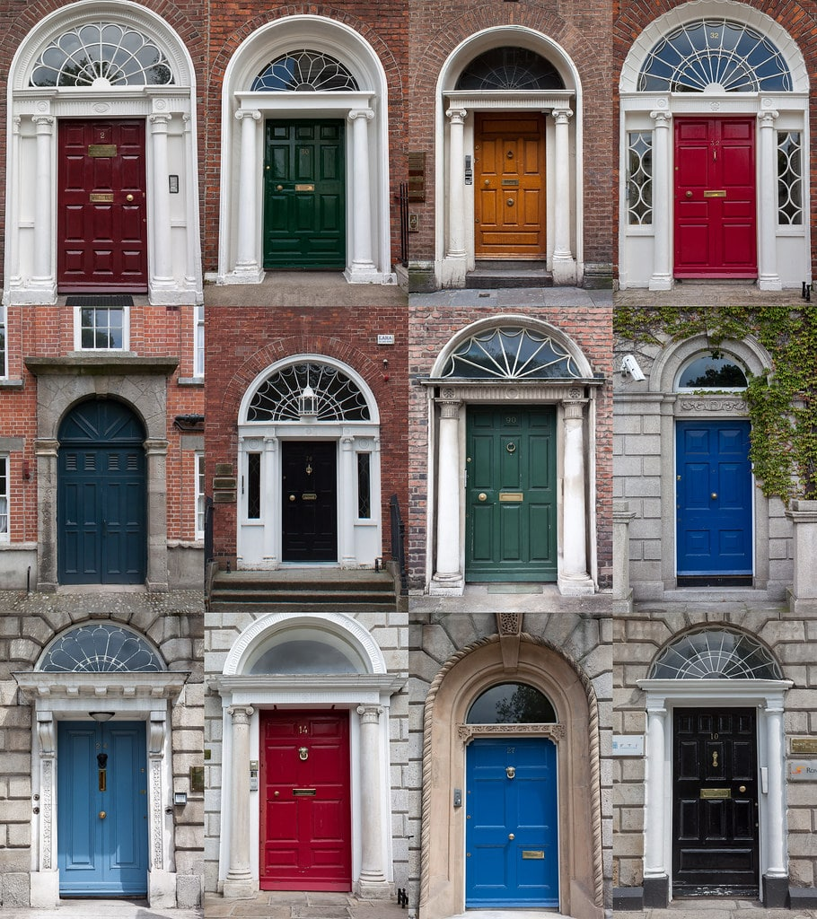 Portes colorées à Dublin - Photo de Timsackton