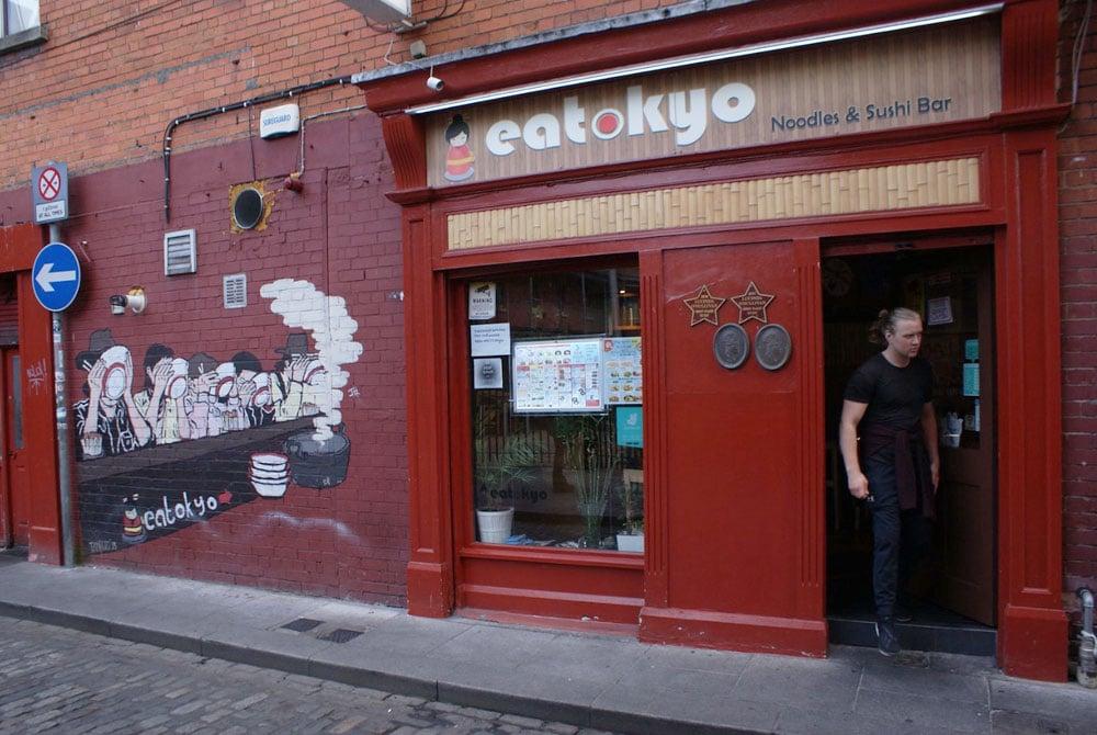 Dans le quartier de Temple Bar à Dublin.