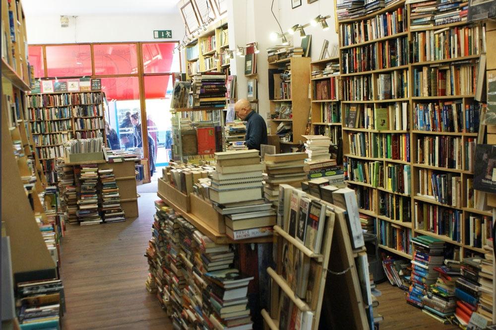 Librairie the Last Bookshop dans le quartier de Portobello à Dublin.