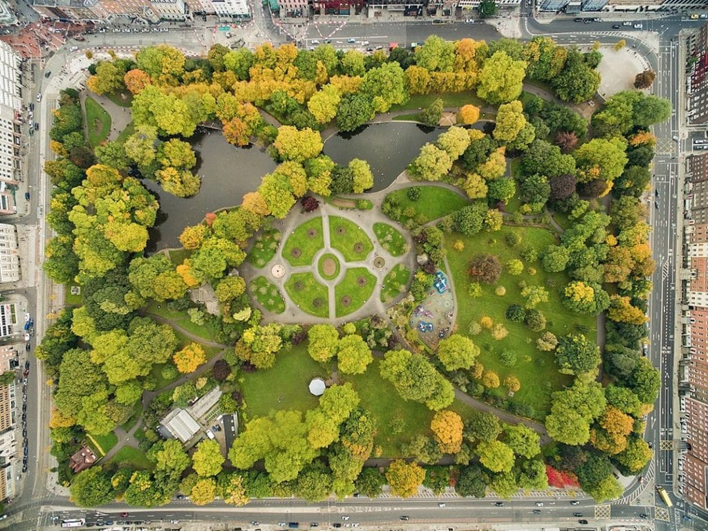 Jardin de St Stephens green à Dublin - Photo de Dronepicr