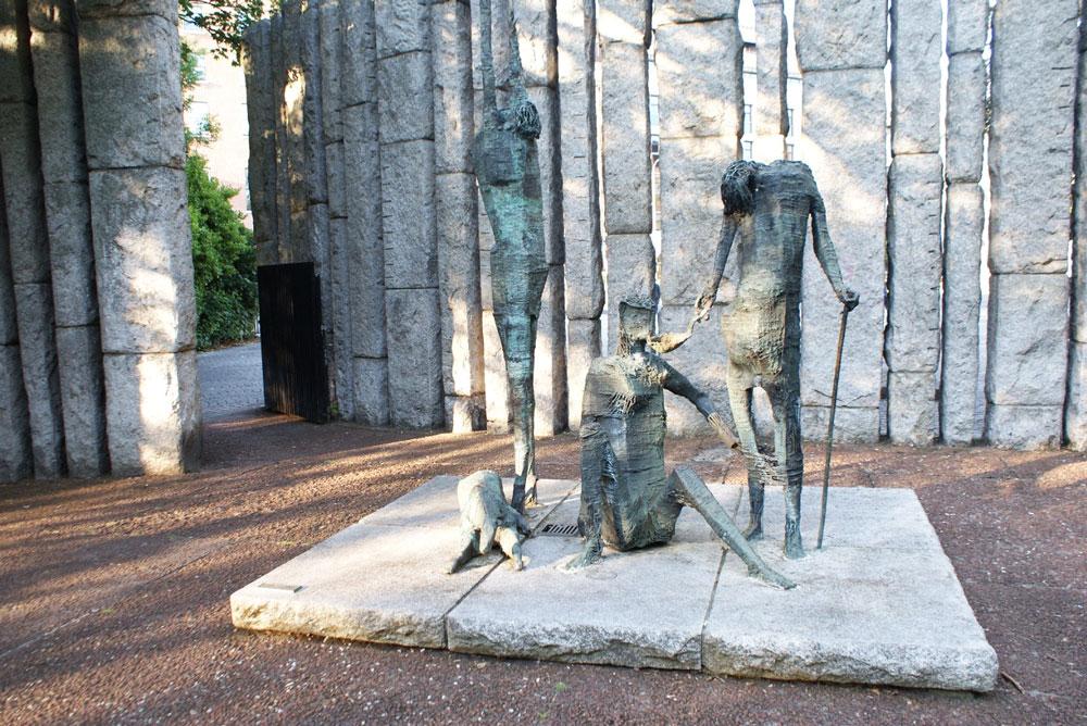 Monument de la famine irlandaise dans le jardin Stephen's Green à Dublin.
