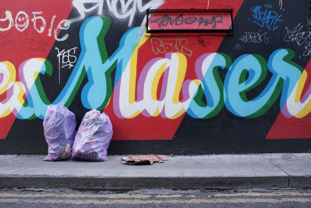 Street art dans le quartier de Portobello à Dublin.