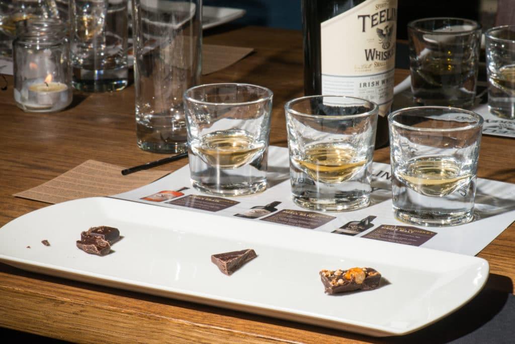 Dégustation chocolat-whisky à la Teeling Distillery de Dublin.