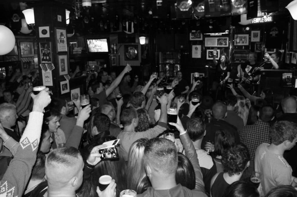 Concert au Temple bar à Dublin.