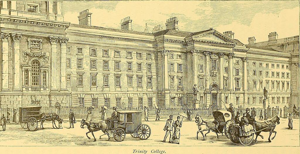 Université Trinity College à Dublin en 1885.