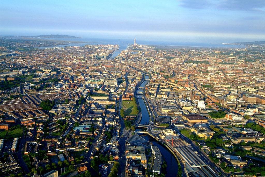Quartiers de Dublin - Photo aérienne du Penn State