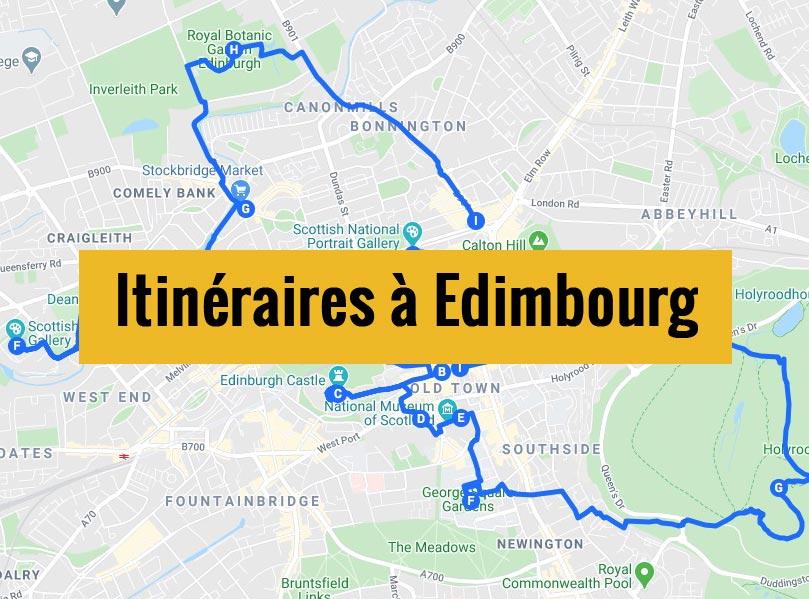 Itinéraires détaillés pour visiter Edimbourg (Ecosse) en 2, 3 jours ou plus.