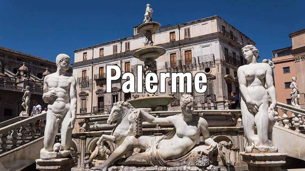 Visiter Palerme en Sicile (Italie) pendant un week-end ou plus, ici la fontaine Pretoria - Photo de Carmela Rita