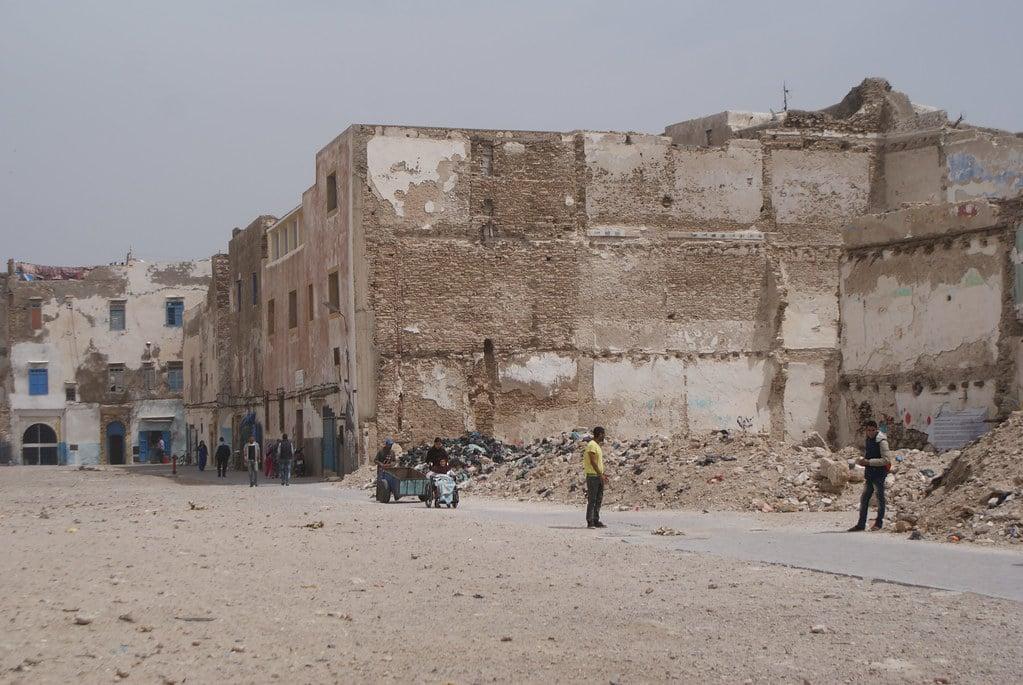 > Ruines et no man's land du Mellah, l'ancien quartier juif d'Essaouira.