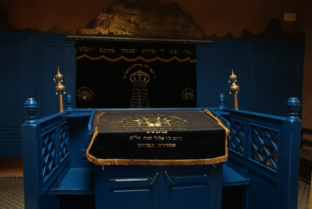 > Synagogue Rabbi Haim Pinto, l'une des deux synagogues à Essaouira.