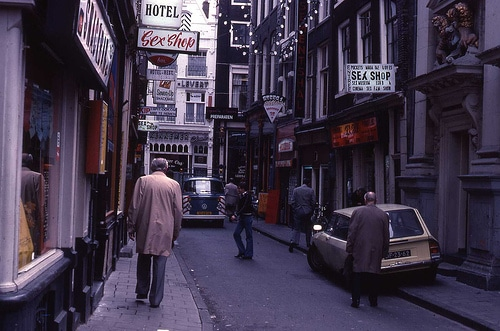 Quartier rouge d'Amsterdam en 1978 jvh33@Flickr