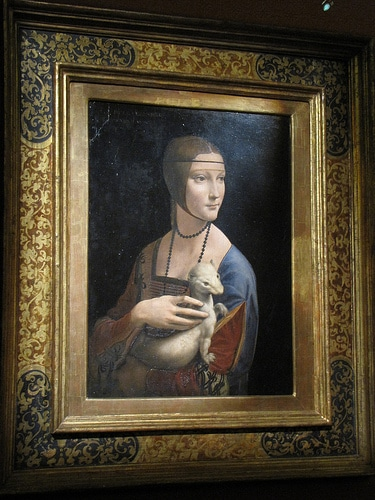 Dame à l'hermine de Da vinci à Cracovie - Photo de qyphon@Flickr