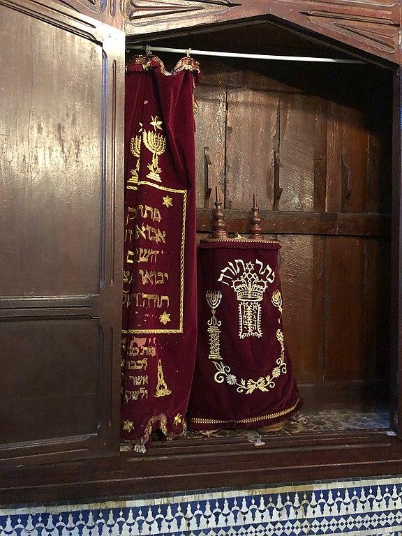 Dans la synagogue Danan dans le Mellah, l'ancien quartier juif de Fès - Photo de Sambasoccer27