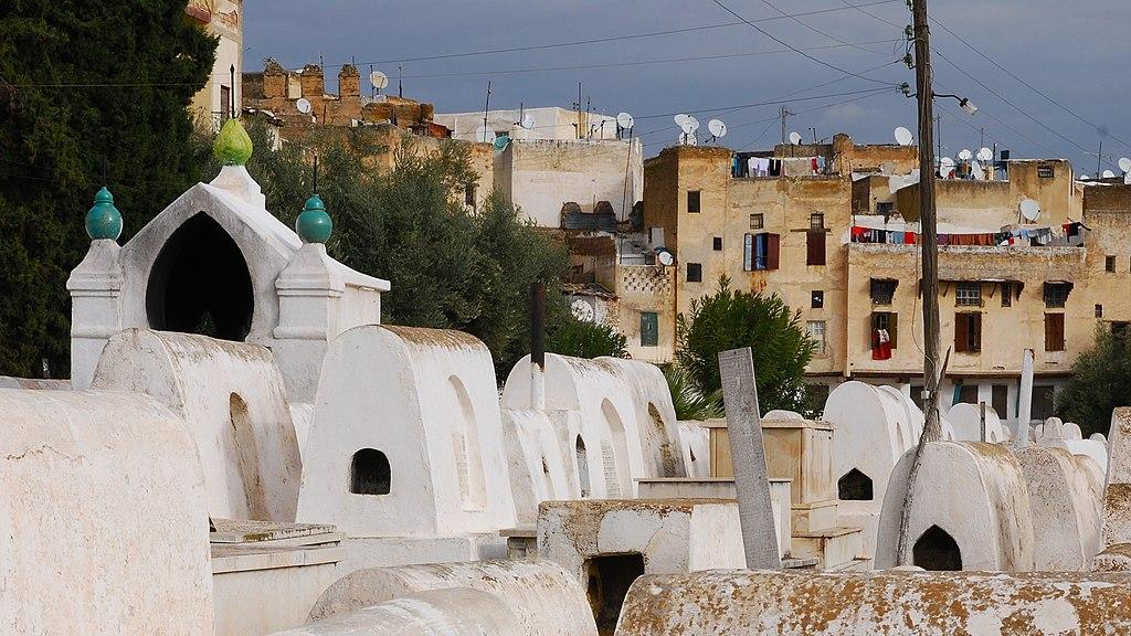 Cimetière juif dans le Mellah de Fès - Photo de Colich