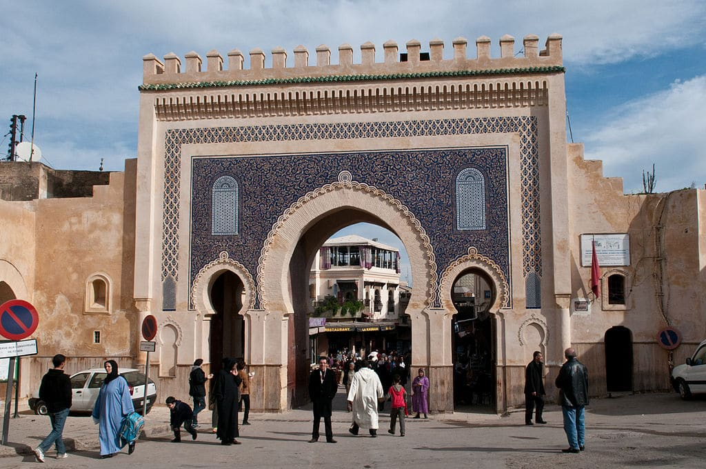 Monument of Fez: The famous Blue Door or Bab Boujoud opening onto the medina.  Photo by Michal Osmenda