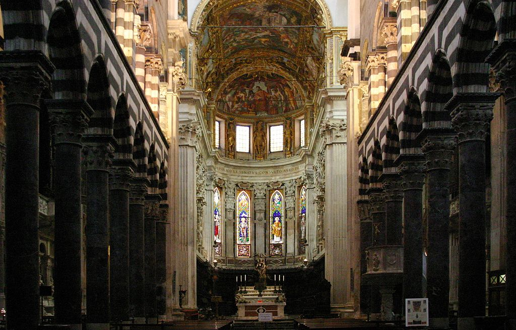Cathedrale San Lorenzo dans le centre historique de Gênes - Photo de José Luiz