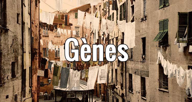 Guide de Gènes dans la région de la Ligurie en Italie.