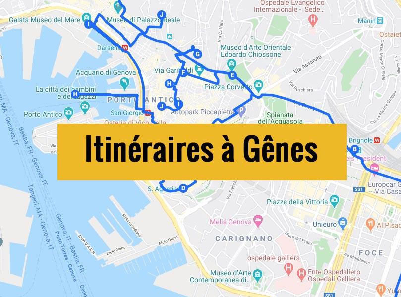 Itinéraires détaillés pour visiter Gênes (Italie) en 2, 3 jours ou plus.