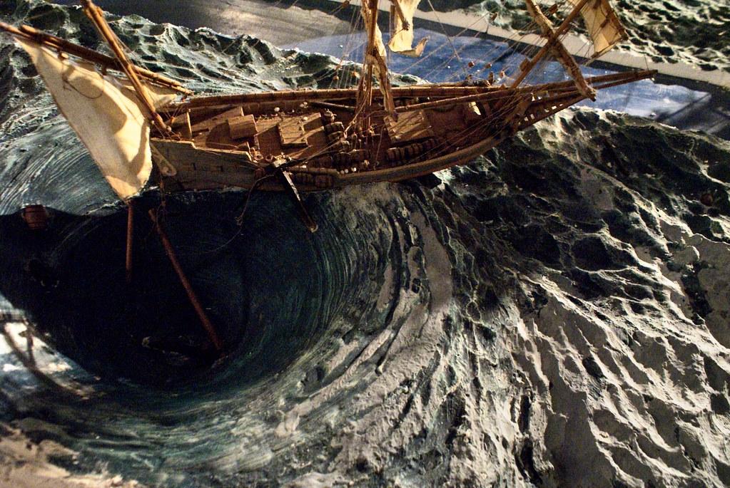 Dans le Musée de la mer de Gênes sur le port et près du quartier de Pré.