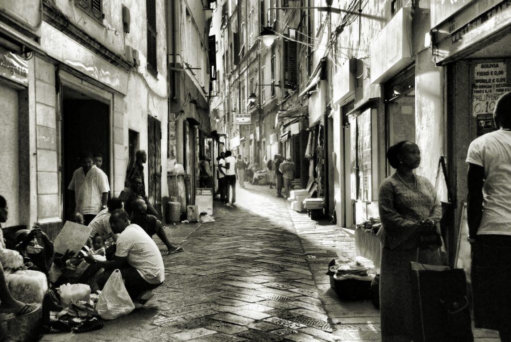 Dans le quartier du Pré à Gênes dans la Via Pré - Photo d'Unita36 Gennaro