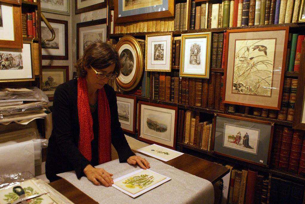 Livres anciens chez Dallai dans le centre historique de Gênes.