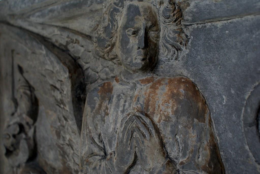 A l'intérieur de musée de la sculpture Sant'Agostino dans le centre historique de Gênes.