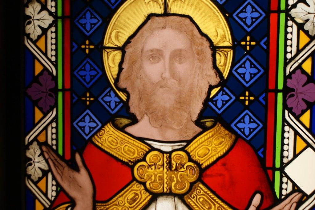 Vitraux de Jesus dans la Cathédrale de Glasgow.