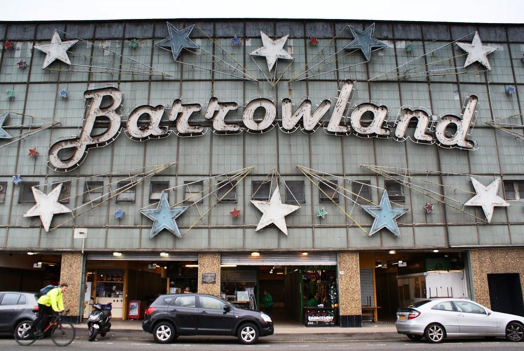 Barrowland : Salle de concerts et enseigne magnifique à Glasgow dans le quartier d'East End.