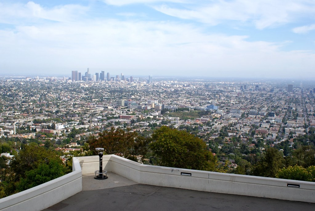 Point de vue depuis le Griffith observatory à Los Angeles.