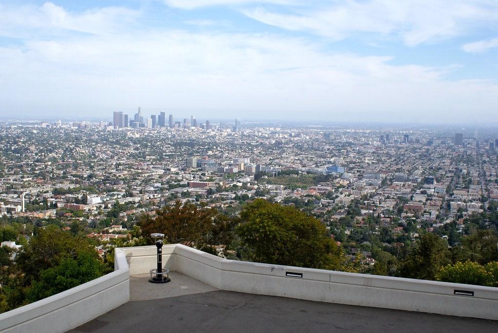Point de vue depuis le Griffith observatory à Los Angeles.