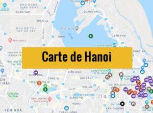 Carte de Hanoi (Vietnam) : Plan détaillé gratuit et en français à télécharger