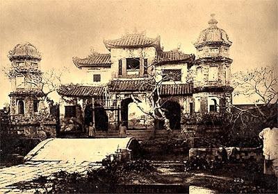 Pagode Chua Bao An d'Hanoi détruite pour construction la cathédrale Saint Joseph.
