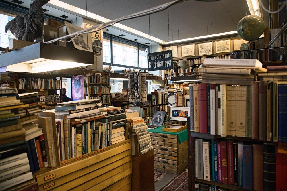 Librairie antiquaire Cecil Hagelstam à Helsinki.