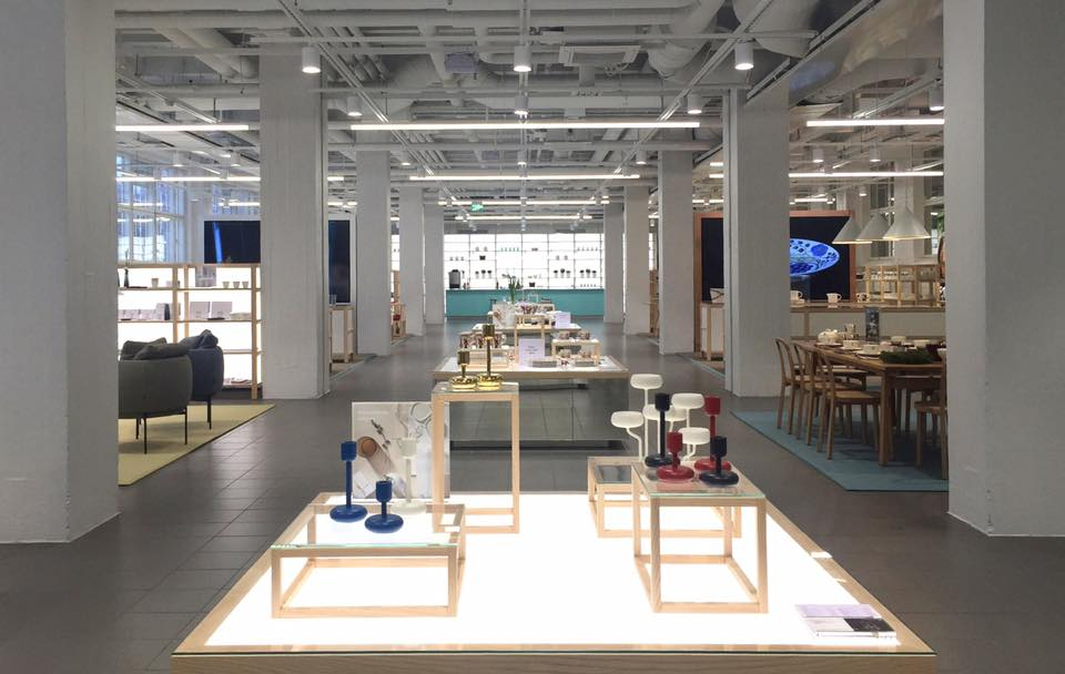 Iittala à Helsinki, boutique de design.