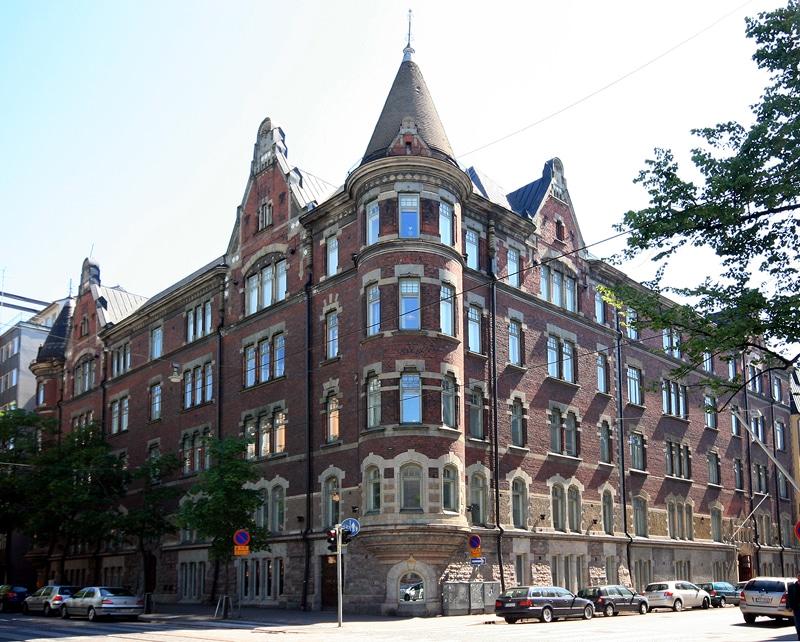 Architecture Art Nouveau nordique dans le quartier du design à Helsinki. Photo de Mahlum