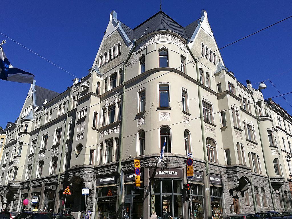 Architecture Art Nouveau nordique dans le quartier du design à Helsinki. Photo d'Improver 03 04
