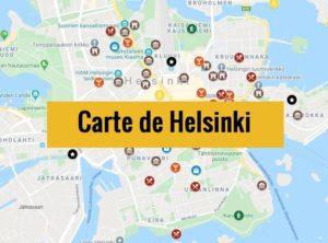 Carte d'Helsinki (Finlande) : Plan détaillé gratuit et en français à télécharger