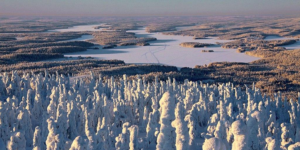 Paysage de Finlande : Hiver au bord de Lac Iijärvi - Photo de Guillaume Baviere